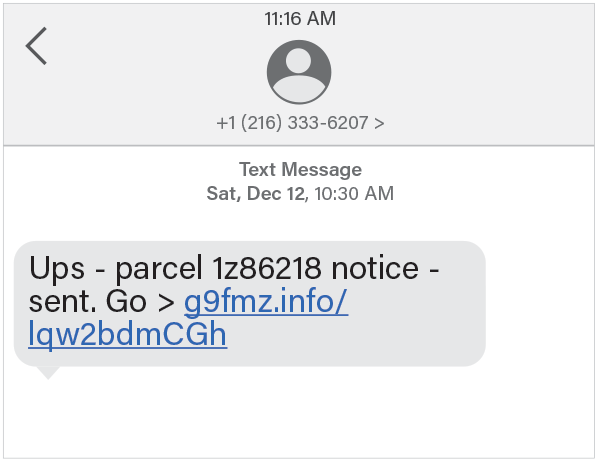 UPS text scam